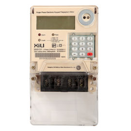 Keypad Single phase Prepaid Energy Meters with STS / IEC standard