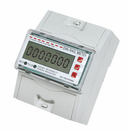 Tamper Proof Single Phase DIN Rail Type Energy Meter / KWH Meters for Residential application
